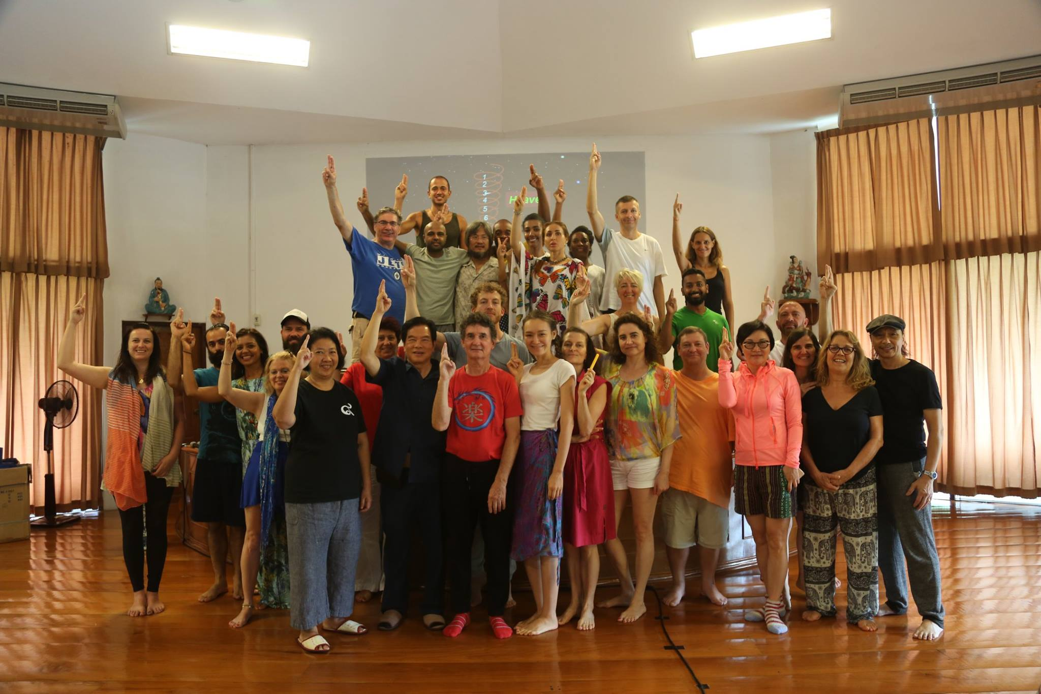 Group of students at Summer Retreat 2017 Week 4: Cosmic Healing I