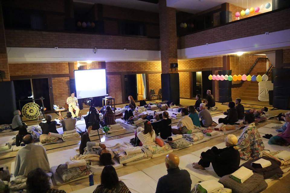 Students at Tao Garden Darkroom Retreat 2018 with Mantak Chia