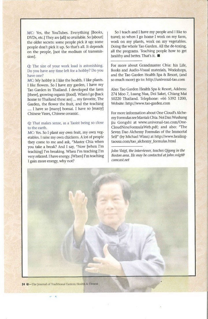 Mantak Chia Interview 8